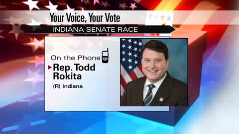 Republican senate candidate Todd Rokita talks about upcoming election