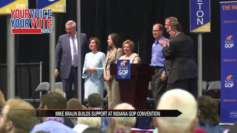 Republicans rally around Mike Braun at state convention