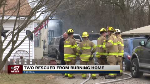 Dog injured in house fire in Osceola