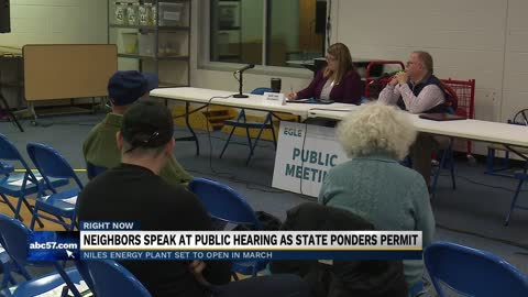 Residents voice concerns over Niles Energy Center at public hearing