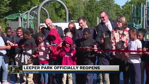 Ribbon cutting event held at newly renovated Leeper Park