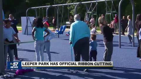 Ribbon cutting event held at newly renovated Leeper Park (part...