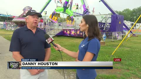 Rides at the Elkhart County 4-H Fair
