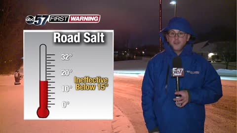 Road salt ineffective at certain temperatures