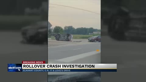 Rollover crash under investigation on C.R. 17 in Elkhart