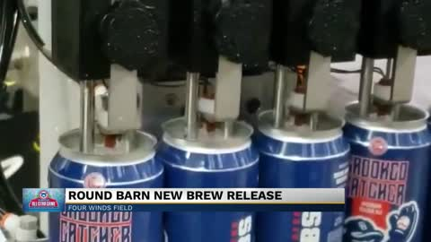 Round Barn packaging new beer using South Bend Cubs cans