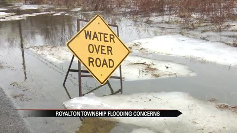 Royalton Township roads improved after yesterday's flood but residents still have concerns