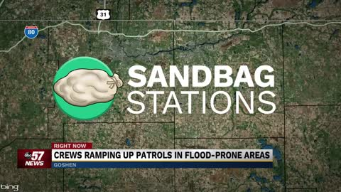 Sandbags being offered in preparation for flooding
