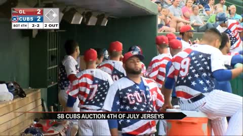 South Bend Cubs to auction special Independence Day jerserys