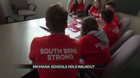 Thousands of South Bend students take stance against gun violence