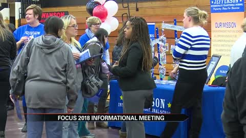 Parents learn about Focus 2018 plan through informational fair