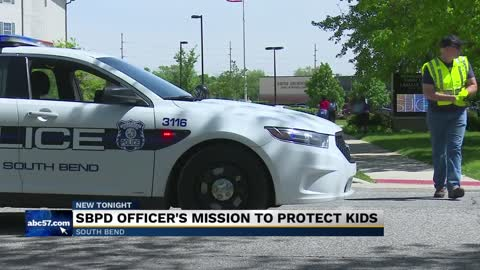 South Bend Police officer going beyond 'protect and serve'...