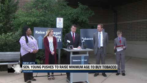 Senator Todd Young pushing bill to raise minimum age to buy tobacco products
