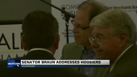 Senator Mike Braun goes on tour to discuss his first 100 days...