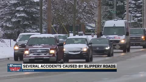 Road concerns, weather-related accidents during first winter...