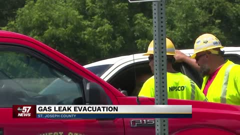 Several homes evacuated, road closed due to damaged natural gas line