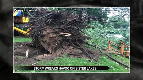 Sister Lakes hit hard by heavy storm