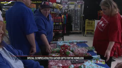 Athletes from St.Joseph Special Olympics collect gifts for homeless