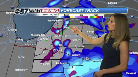Snow returns Sunday