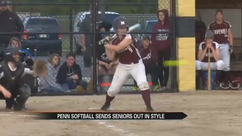 Softball: Watson throws no hitter as Penn sends seniors out in style