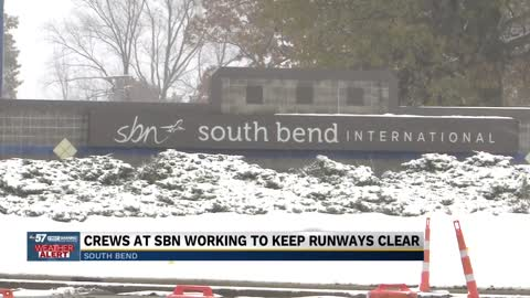 South Bend Airport prepares for inclement and snowy conditions