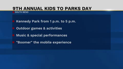 South Bend celebrating Kids to Parks day
