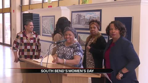 South Bend community members gather in honor of Women's History...