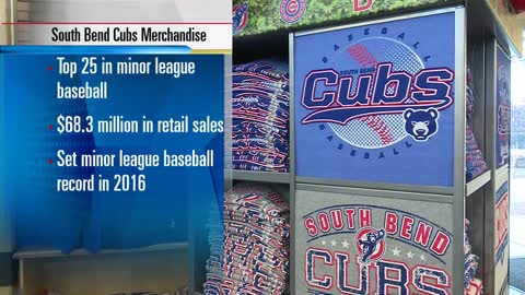 South Bend Cubs among top 25 in Minor League Baseball merchandise sales