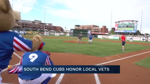 South Bend Cubs honor veterans during Military Appreciation Day