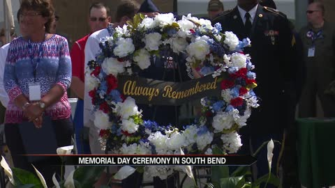 south bend cubs honor veterans with wreath laying