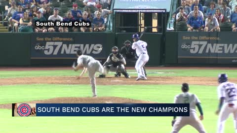 South Bend Cubs President talks championship win, showcases trophy