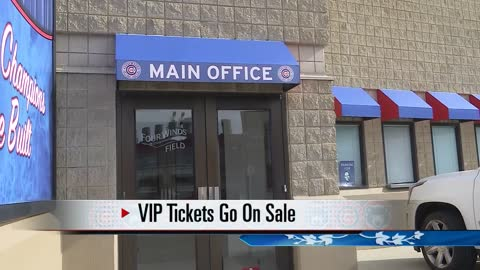 VIP tickets for the South Bend Cubs' opening night are now available