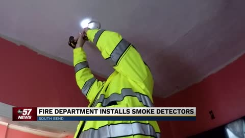 South Bend Fire Department installs smoke alarms in neighborhood after deadly fire