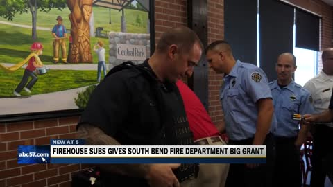 South Bend Fire Department receives $25K grant from Firehouse Subs