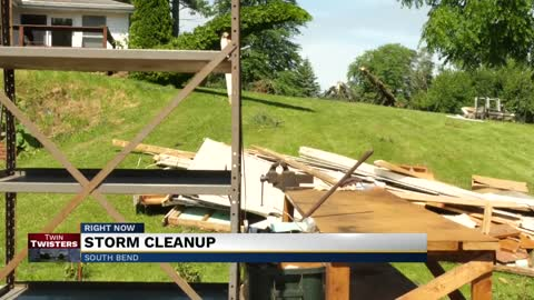 South Bend homeowner rebuilding after tornado destroyed her garage