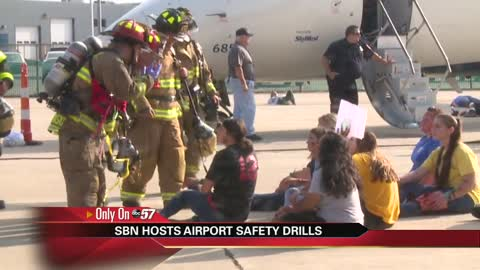 South Bend International holds safety drill