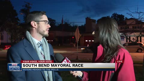 South Bend mayoral candidates vote on Election Day