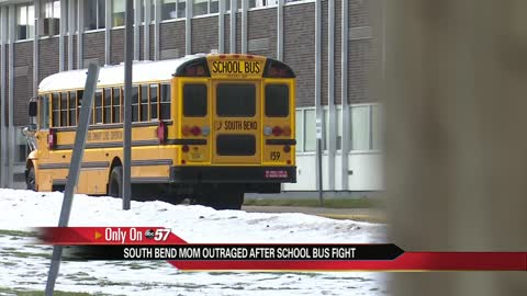 South Bend mom upset after school bus fight