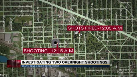 South Bend police investigate two shootings around Linden Avenue