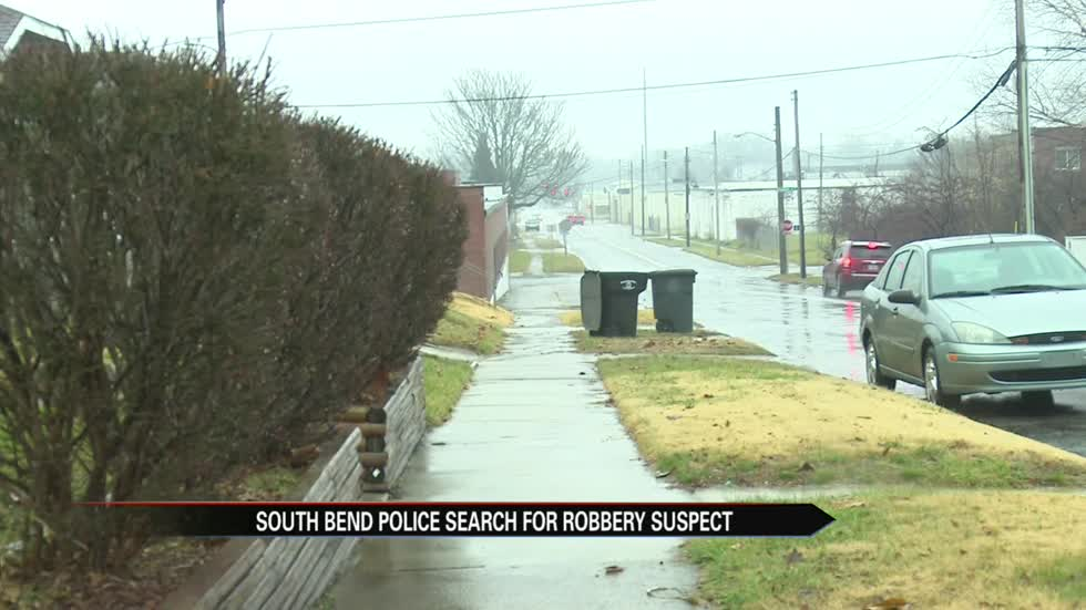 south bend police search for armed robbery suspect