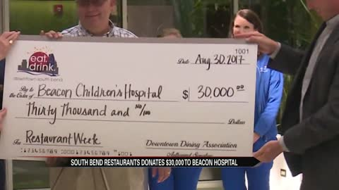 South Bend restaurants donate thousands to Beacon Children's Hospital