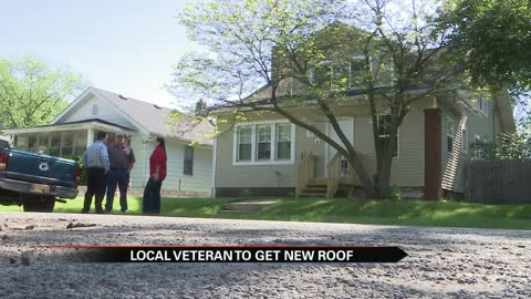 South Bend veteran receives much-needed new roof