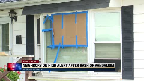 Southwest Michigan community on high alert after a rash of vandalism