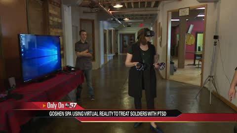 Spa combining virtual reality with massages to treat PTSD