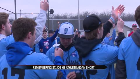 St. Joe baseball team and students honor late classmate Aidan Short