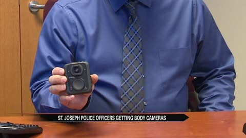 St. Joseph Police Officers receiving body cameras