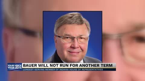 State representative Patrick Bauer of South Bend will not seek...