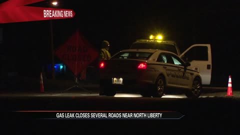 State Road 23 closed near North Liberty due to gas leak; some...