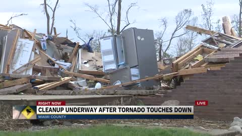 Storm damage in Fulton, Miami counties following tornado