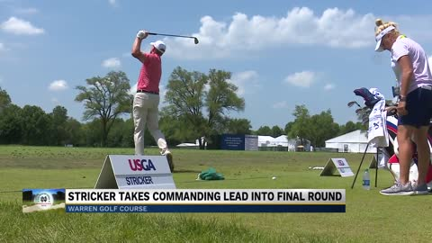 Stricker opens US Senior Open lead heading into Sunday